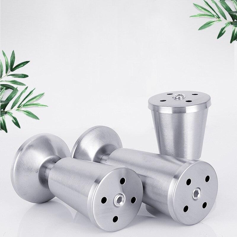 Image 4 - 4 sztuk ze stali nierdzewnej stali nierdzewnej pogrubienie regulowana szafka stopy wsparcie szafka stopka typu Sofa stóp łazienka szafka stopyNogi meblowe   -