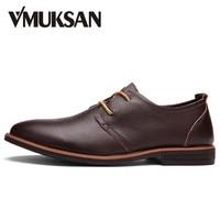 VMUKSAN Brand Formal Shoes Genuine Leather Men's Dress Shoes Black Oxfords LUXURY Wedding Shoes