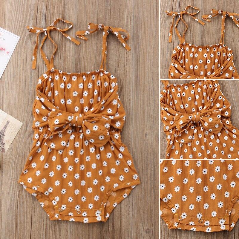 HTB1lwiyn XYBeNkHFrdq6AiuVXa7 Newborn Baby Girl Strap Bowknot Floral Romper Polka Dot Jumpsuit Outfits Sunsuit