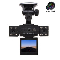 Dual Lens Camcorder H3000 Full HD 1080P Car DVR 8 LED Night Vision 2 Inch TFT
