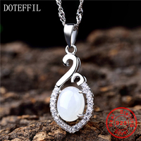 925 Sterling Silver Pendant Necklace Women Charm Rare AAA Crystal Zircon Luxury Brand Female Jewelry