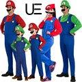 Funy cosplay super mario luigi brothers fancy dress up costume party traje lindo adultos niños kid envío gratis