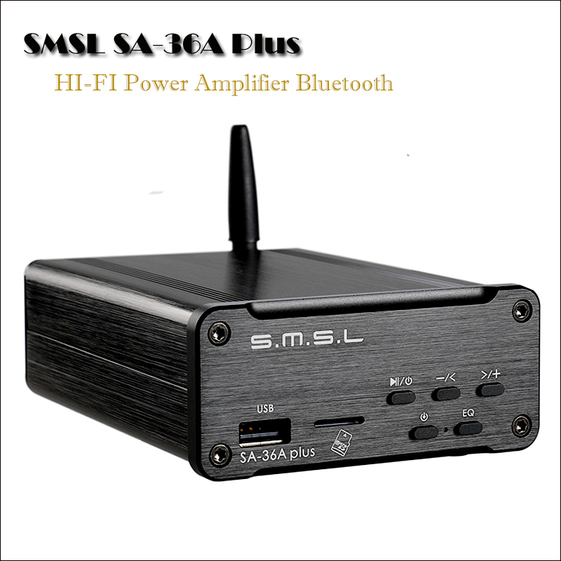 SMSL SA-36 Plus Power Amplifier Professional HIFI Bluetooth Amplifier Audio Portable Bluetooth Audio Amplifier Amplificador цены