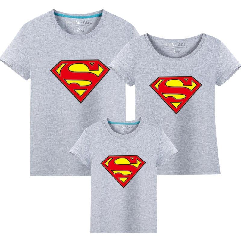 1 st Hot Superman Familj Matchande T-shirts Kvalitet Bomull Sommar - Barnkläder - Foto 4