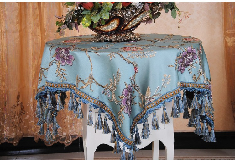 High Grade Coffee Table Cloth Fashion European Round Bedside Customized Size Accept