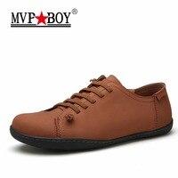 MVP BOY New 2018 Mens Shoes Split Leather Men S Flats Handmade Mens Loafers Fashion Designer