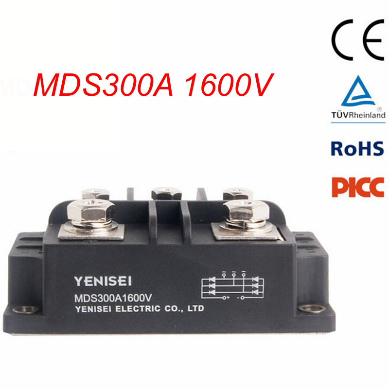 Three Phase Diod Bridge Rectifier MDS300A 1600V for DC Power of Apparatus Input Rectificate Power of PWM Frequency Converter factory direct brand new mds200a1600v mds200 16 three phase bridge rectifier modules