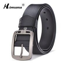 [HIMUNU] Новое поступление, мужской ремень из натуральной кожи, дизайнерские ремни для мужчин, высокое качество, ремень из коровьей кожи, мужские роскошные Брендовые мужские аксессуары