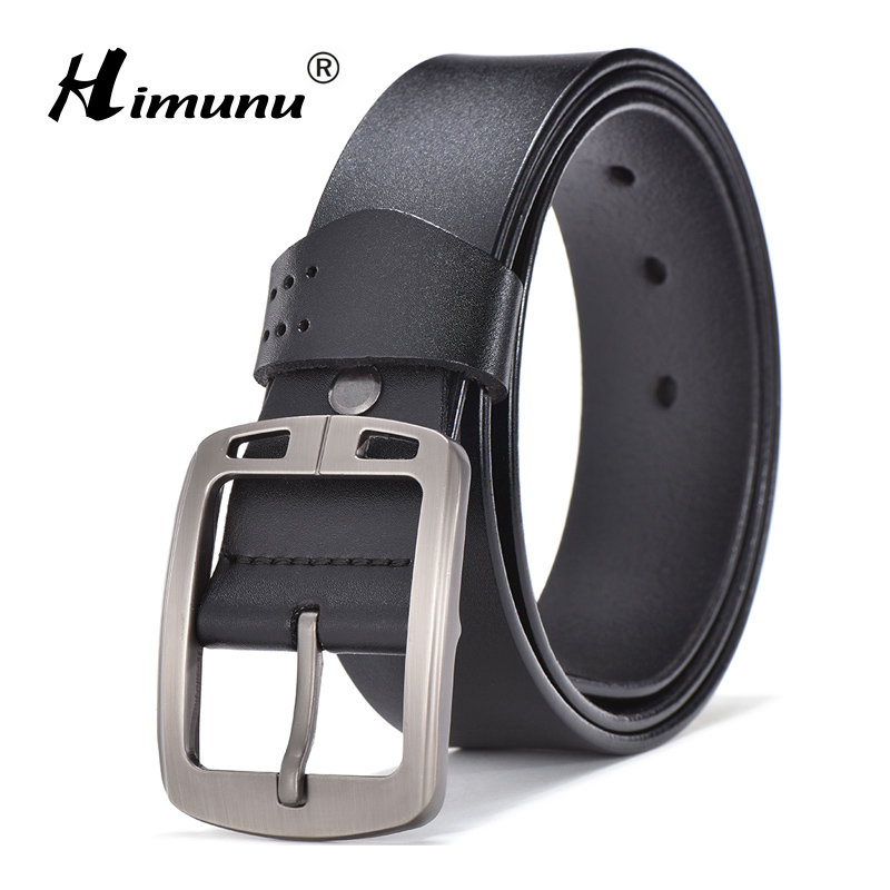 [HIMUNU] New Arrival Genuine Leather Male Strap Designer Belts Men High Quality Cowskin Belt Men Luxury brand Man Accessories