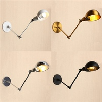 Home Decor Lamp Industrial Style LED Wall Light Lamp 220V Modern Long Arm Pole Swing Vintage