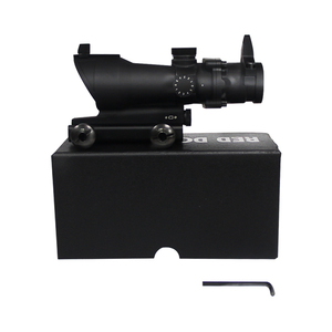 Image 5 - Bumlon ACOG 1X32 Red Dot Sight Optical Rifle Scopes ACOG Red Dot Scope Hunting Scopes  With 20mm Mount for Airsoft Gun