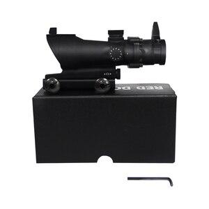 Image 5 - Bumlon ACOG 1X32 Red Dot Sight Ottico Fucile Ambiti ACOG Red Dot Scope Caccia Scopes Con 20 millimetri mount per Airsoft Gun