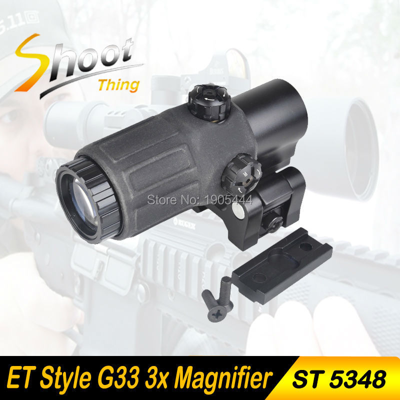 ST 5348 Shoot Thing Tactical Hunting Rifle Holographic Red Dot Optics Sight 3x Magnifier for Airsoft Gun With STS Mount tactical airsoft holographic sight 3x magnifier for red dot sights with sts mount scope for hunting rifle ht6 0063