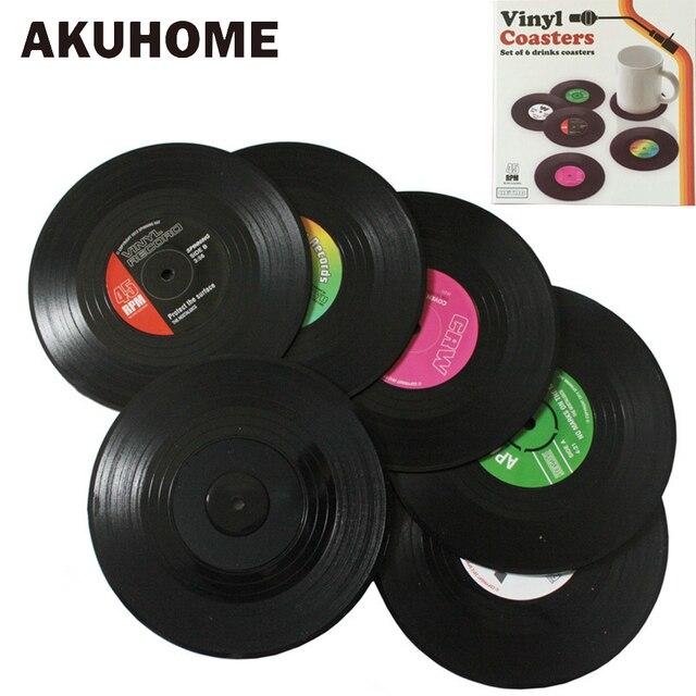2 4 6 PCS Nhựa Môi Trường Vinyl Ghi Bảng Placemats Đơn Giản và Sáng Tạo Mug Coaster Nhiệt-chống Đế Lót Ly Cốc AKUHOME