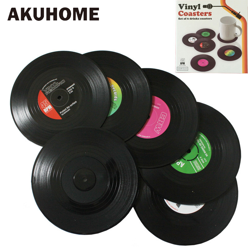 Dessous de verre disque vinyle