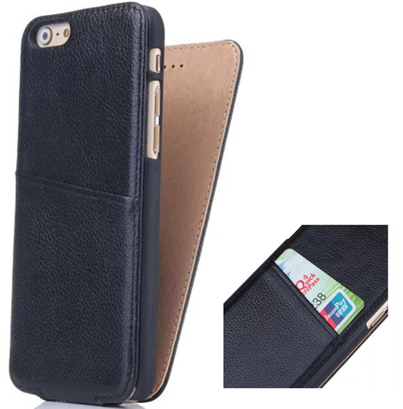 Fashion Classical 4 7 inch for iPhone 6 Case Genuine Leather Vertical Flip Phone Cover Lichee