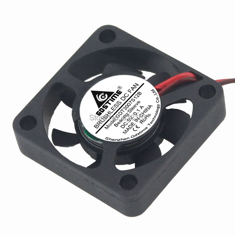 2PCS Gdstime Dupont 2Pin 5V Small Micro Blushless DC Cooling Fan 30mm 30x30x7mm 3007s in Fans Cooling from Computer Office