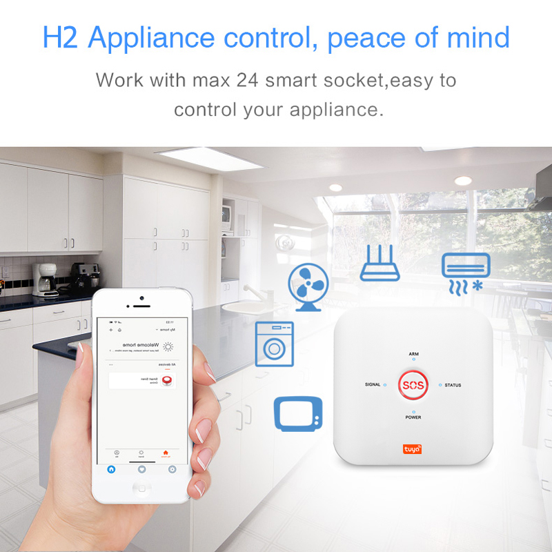 Tuya APP Smart WiFi GSM Home Security GSM Alarm System