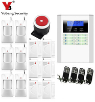 SmartYIBA 99 Wireless 2 Wired Zone Dual Network GSM PSTN Burglar Alarm System LCD Keyboad Russian