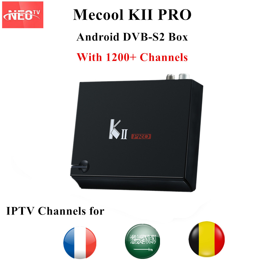 Mecool K2 KII PRO with 1 year NEO IPTV Android 5.1.1 OS DVB-T2/S2 Support Cccam satellite receiver 2GB/16GB S905D Media Player satellite tv receiver decoder solo pro v2 dvb s2 with 1 year ccc m subcription support cccam and iptv