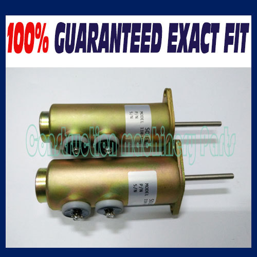 Free fast delivery! (2pcs a lot)  Fuel Shutdown Solenoid Valve 110-6465 6T-4122 For Caterpilar Diesel Engine 24V