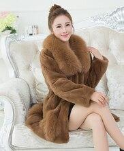 woman natural fur coat fox collar Large size full sleeve rex rabbit fur coat 2017 winter fashion thick real fur coats china