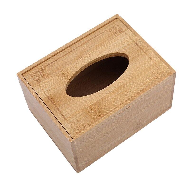 Модный стиль бамбуковая квадратная коробка для салфеток креативный Тип сиденья рулон коробка для хранения бумажная коробка для салфеток экологически чистый деревянный стол Декор - Цвет: m