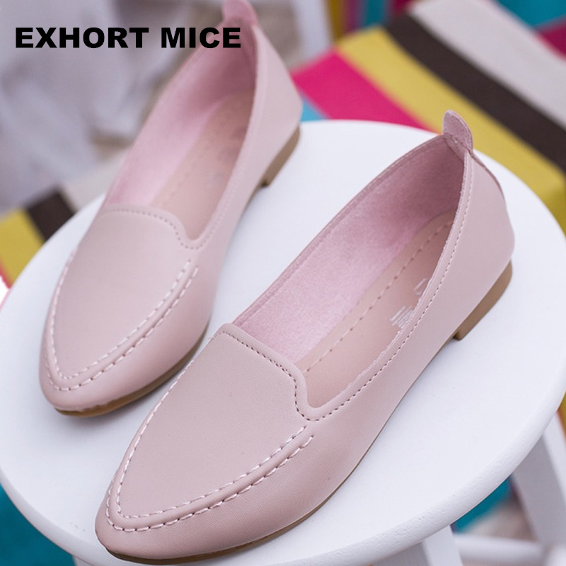 2020 New Arrival Soft Single Shoes Women Round Toe Flats Fashion Women's Flats Ladies Brand Shoes Women Loafers