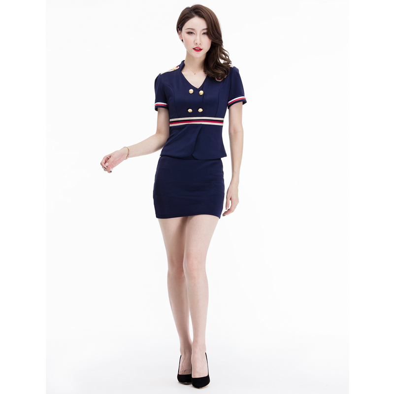 MOONIGHT 5 Colors Sexy Erotic Cosplay Stewardess Costume Women Sexy Temptation Uniform Top With Skirt For Adults S-3XL
