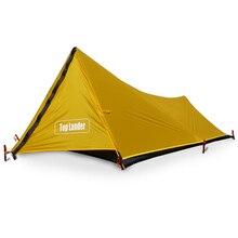 מגדל חיצוני קמפינג אוהל עבור 1 אדם תרמילאים עמיד למים אחת סולו Bivvy אוהל 20D סיליקון מחנה האולטרה אוהל 1 איש