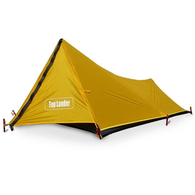 Туристическая палатка A Tower, на 1 человек, водонепроницаемая одноместная двухслойная, 20D силиконовая, Ультралегкая, для одного лагеря