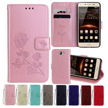 Leather Case For Honor 6A Cases 5C Pro Wallet Cover Flower Design Phone for Huawei