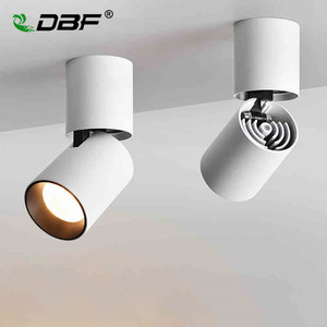 Image 1 - [DBF]Foldable LED Surface Mounted Ceiling light 7W 12W Black/White Housing 360 Degree Rotatable Spot Light Dimmable Ceiling lamp