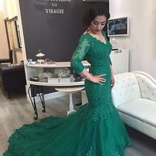 cecelle 3/4 Sleeves Mermaid Prom Dresses 2019 With Sleeves