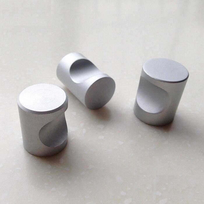 dia 18mm aluminium alloy cabinet knobs modern furniture cupboard closet drawer dresser handle pulls