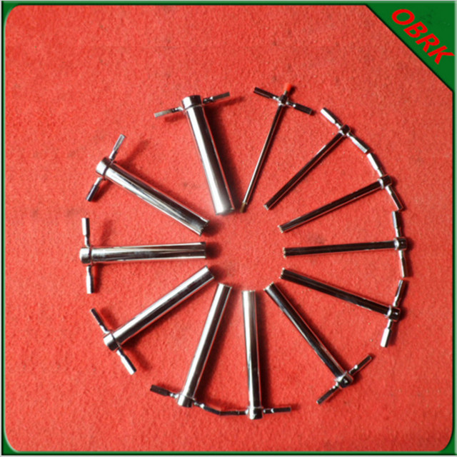 12PCS Stainless Steel Lab Drill Hole Manual Rubber Plug Punch Hole Puncher With Saw Blade