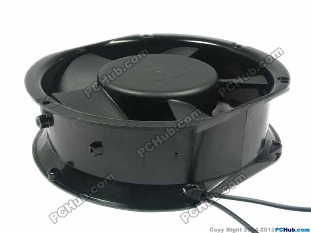 Emacro FP-108EX-S1-B Server Round Cooling Fan AC 240V 60Hz 2-wire emacro for nonoise a8025h24b server square fan dc 24v 0 095a 80x80x25mm 2 wire