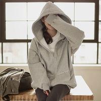 Oversized Hoodie Autumn Winter Sweatshirt Hoodies Women Jacket Plus Velvet Thicken Hoodie Sweatshirt Women Bomber Jacket C3753