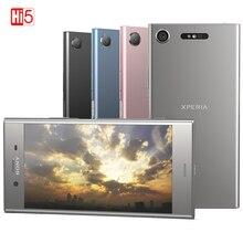 Odblokowany oryginalny Sony xperia XZ1 G8342/G8341 64G ROM 4G RAM 19MP Octa Core NFC Android 7.1 telefon komórkowy 2700mAh Android