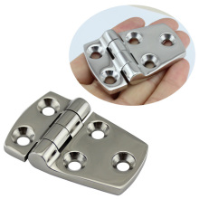Stainless Steel 316 Marine Hardware Silver Door Butt Hinge Cabinet Drawer Boxes Hinge Boat 38*57MM