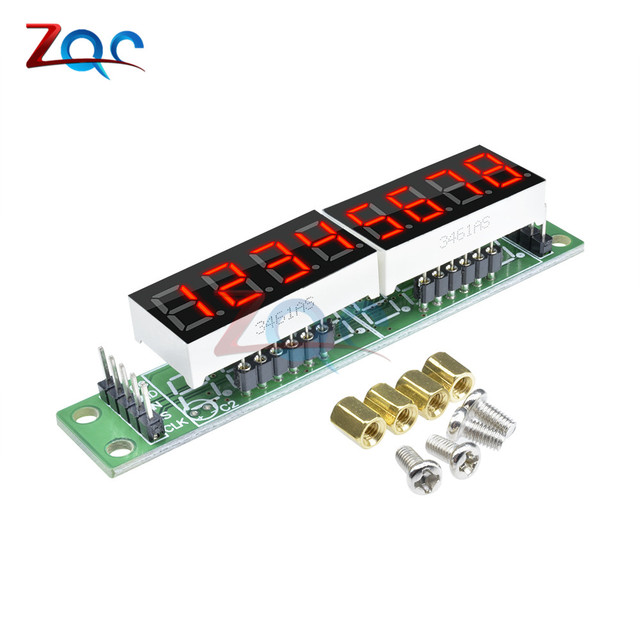 US $1 6 7% OFF|MAX7219 Red Module 8 Digit 7 Segment Digital LED Display  Tube for Arduino MCU DIY KIT With screws-in Instrument Parts & Accessories