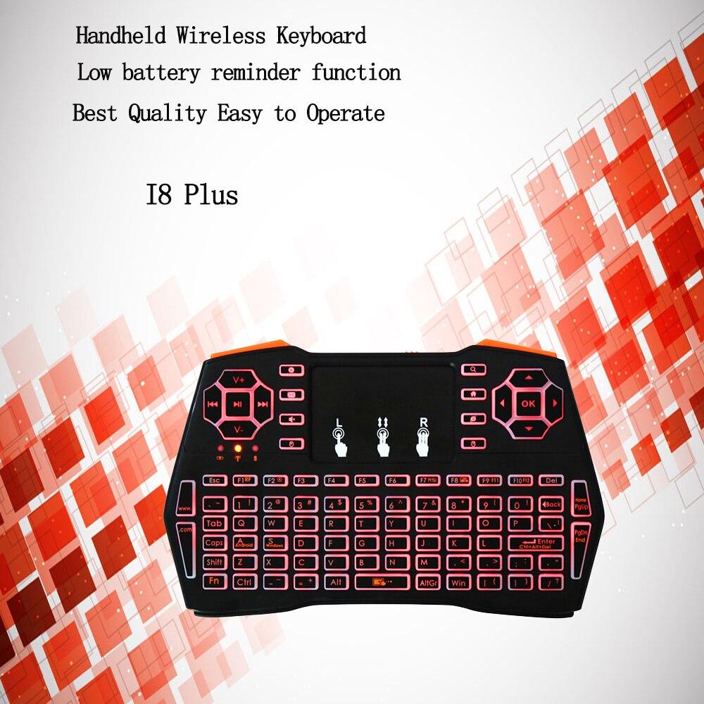 DMYCO i8 Mais Mini Teclado Sem Fio TouchPad Handheld Teclado Para Jogos i8 Rato ar Melhor Para Andriod Google TV Box pk teclado