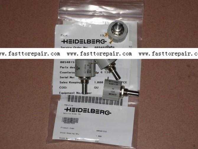 5 pieces potentiometer 61.165.1651 10K original for CD102 SM102 Heidelberg Printing Press 1 piece water sensor for heidelberg sm102 cd102 machine