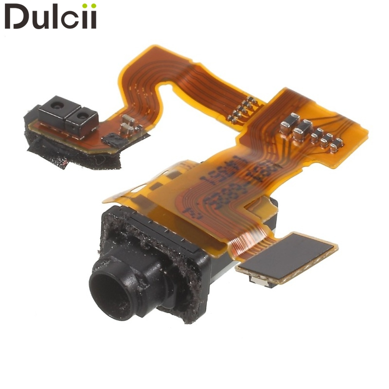 Dulcii Mobile Phone Parts OEM Earphone Audio Jack Flex Cable for Sony Xperia Z3 Compact D5803 D5833