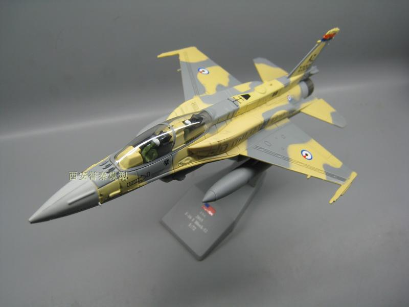 AMER 1/100 Scale Military Model Toys AE F-16EF Fighter Diecast Metal Plane Model Toy For Collection/Gift/Decoration