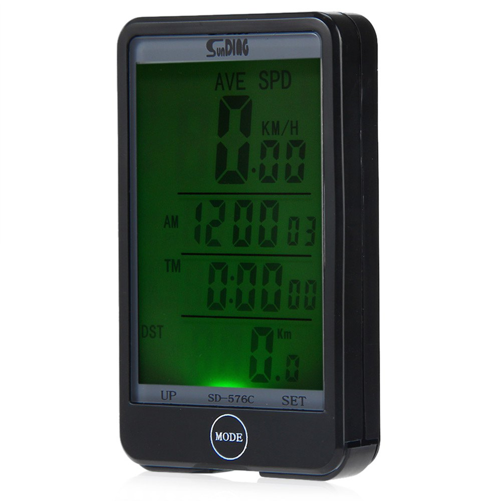 Sunding SD - 576C Large Screen Wireless Bicycle Computer Waterproof Odometer Stopwatch Mode Touch with LCD Backlight