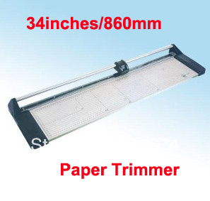 Fast Free shipping NEW Discount Portable 34 inches 860MM Manual Rotary Professional Paper PVC Cutter Trimmer 2017 new manual rotary paper cutter trimmer 310mm 20sheets paper cutting and perforating double function new design