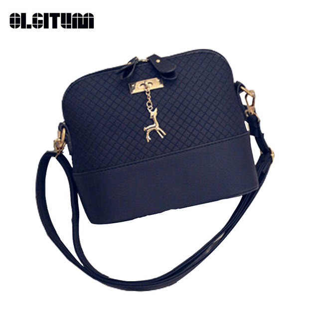 OLGITUM New Arrival 2017 Women Messenger Bags Mini Fashion Bag with Deer Toy Shell Shape Bag Hot Sale Lady Shoulder Bags F746