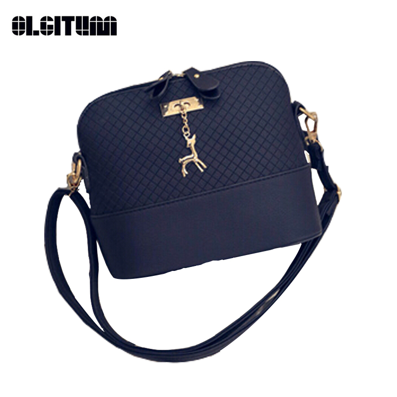 OLGITUM New Arrival 2018 Women Messenger Bags Mini Fashion Bag with Deer Toy Shell Shape Bag Hot Sale Lady Shoulder Bags HB002