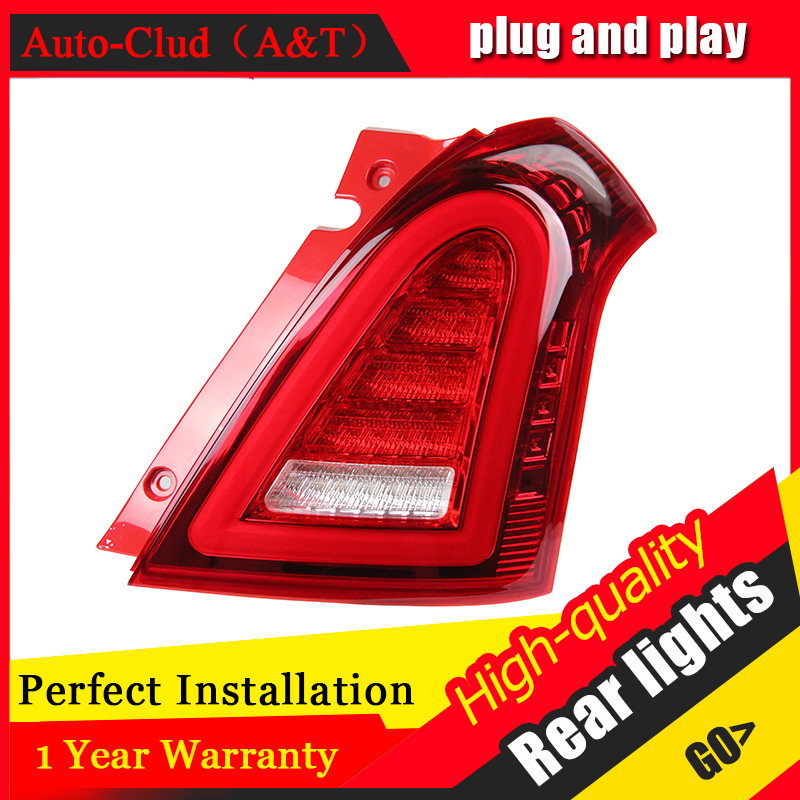 Car Styling LED Tail Lamp for Suzuki Swift Taillights 2005-2014 Swift Rear Light DRL+Turn Signal+Brake+Reverse auto Accessories